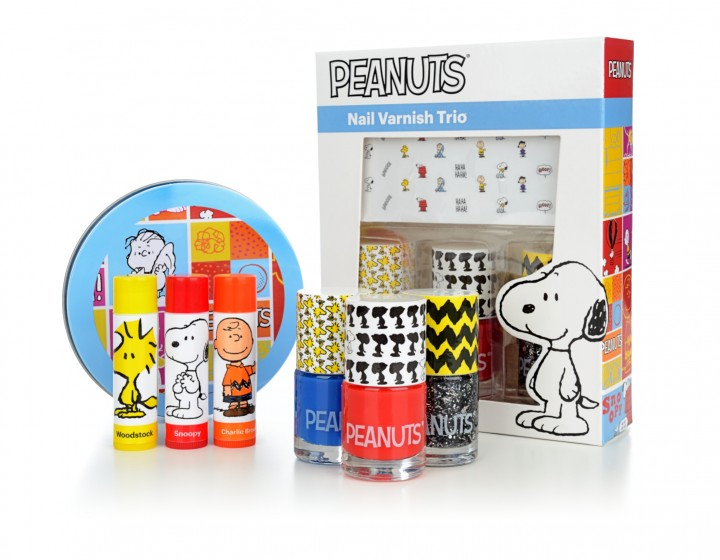 The Peanuts Nail Varnish Trio and lip balms are now available at Primark!