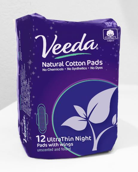 Veeda Ultra thin night pad available at Boots