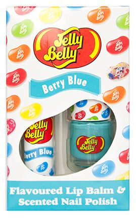 Jelly Belly Berry blue lip and nail duo
