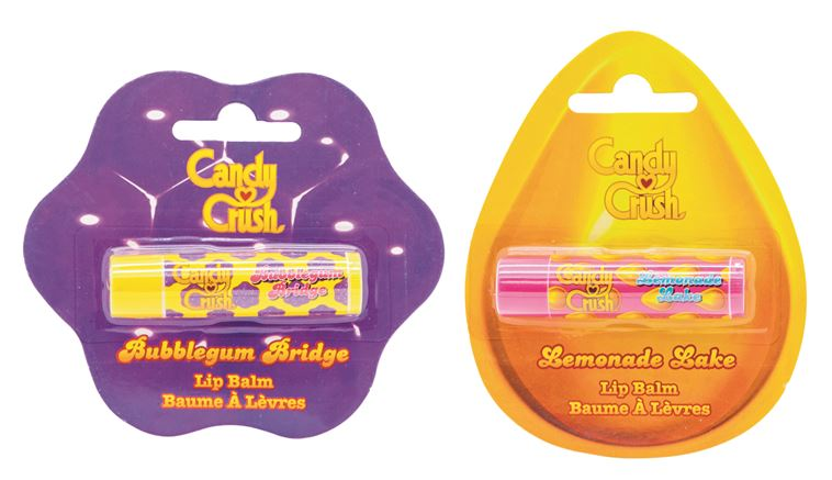 Lemonade Lake and Bubblegum Bridge Candy Crush Lip Balms