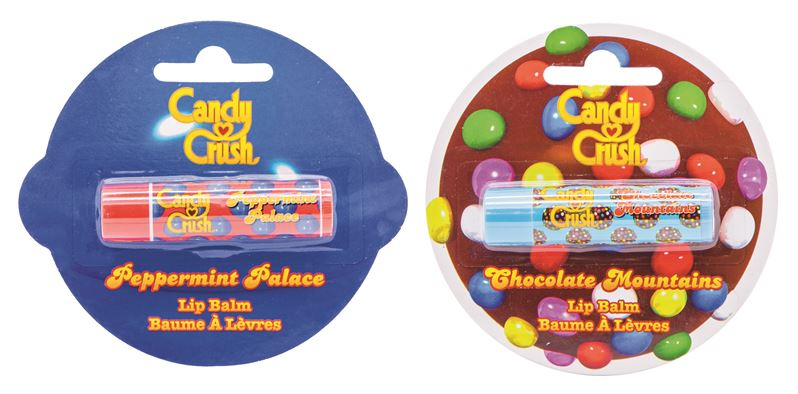 Peppermint Palace and Chocolate Mountains Candy Crush Lip Balms