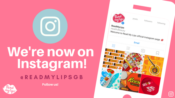@ReadMyLipsGB launch on Instagram