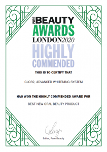 Glo32 Wins Highly Commended Award at Pure Beauty Awards 2020